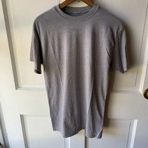 Hanes Plain Grey Crew Neck T-Shirt Men's Size S